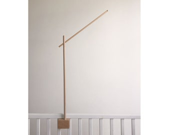 Baby mobile holder / baby crib attachment / wooden mobile stand / wooden mobile arm / DIY baby mobile