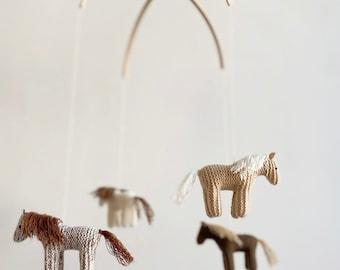 baby crib mobile - nursery mobile - Horse mobile - Pony mobile