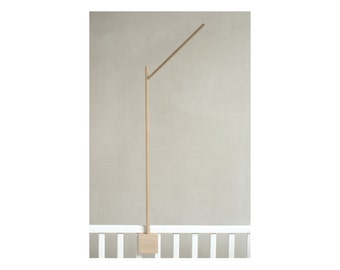 baby mobile holder / baby mobile stand / wooden mobile arm / baby crib attachment / DIY baby mobile