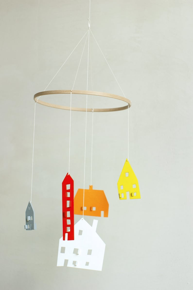 baby mobile nursery mobile baby crib mobile wooden mobile etsyMobile Wooden House Drawing #7