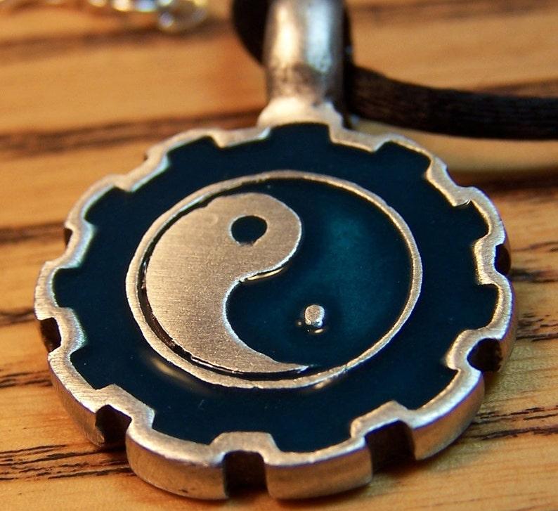 Yin Yang Pendant Men or Women Mens Mans Jewelry  Tao image 0