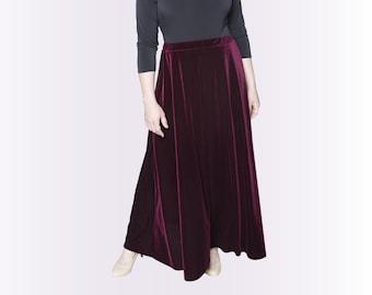 Velvet Skirt A-line 4 lengths Many Colors Misses & Plus Sizes 2-28