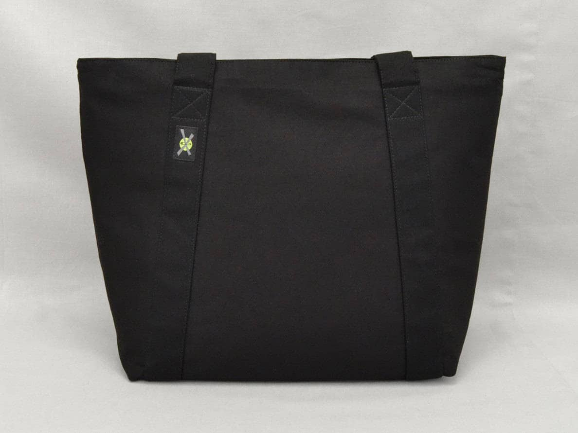 cedbcc99ac Black Zippered Tote Bag