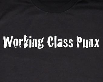 Working Class Punx T-shirt, Black and White Silkscreen, Cotton Tee