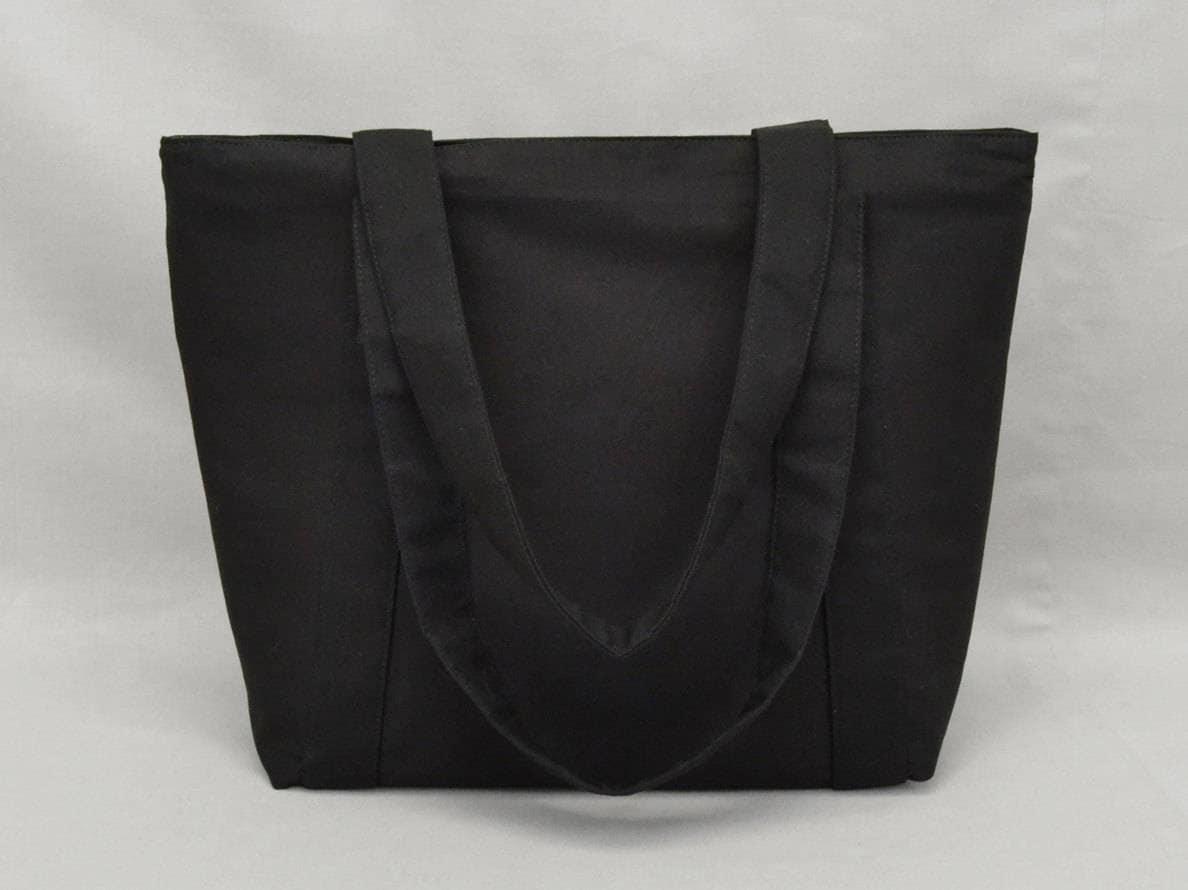 135c7be5c8 Black Zippered Tote Bag
