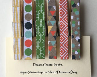 Decorative Clothespins - Modern