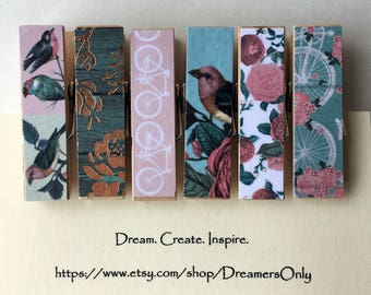 Decorative Clothespins - Secret Garden
