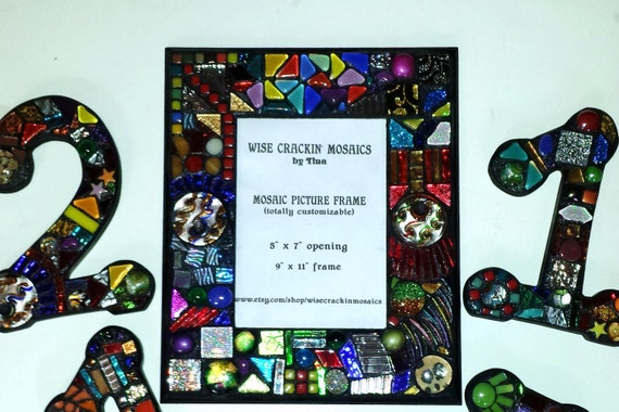 Mosaic Picture Frames In The Wild Funky Style Or Your Etsy