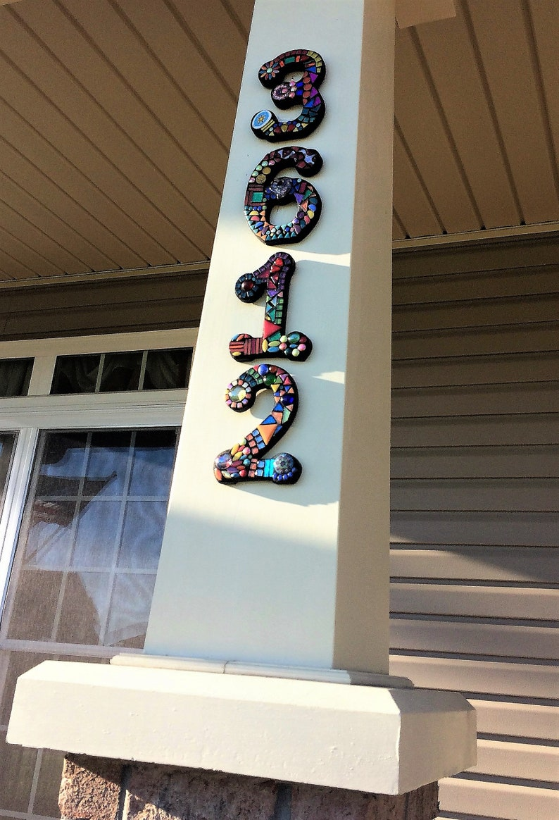 CUSTOM Mosaic House Numbers Finished Orders Photographed ...