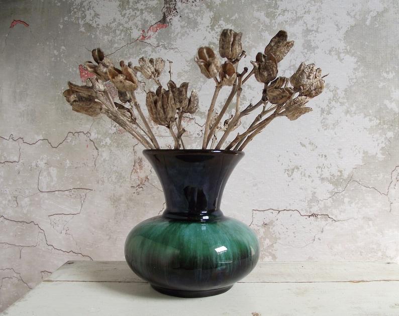Blue Mountain Pottery Vase Bmp Canada Vase Blue Green Vase Etsy