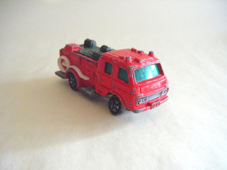 Vintage UD Condor Chemical Fire Engine Die Cast Tomica Collectible Cake Topper Memorabilia Firefighter Transportation  Distressed