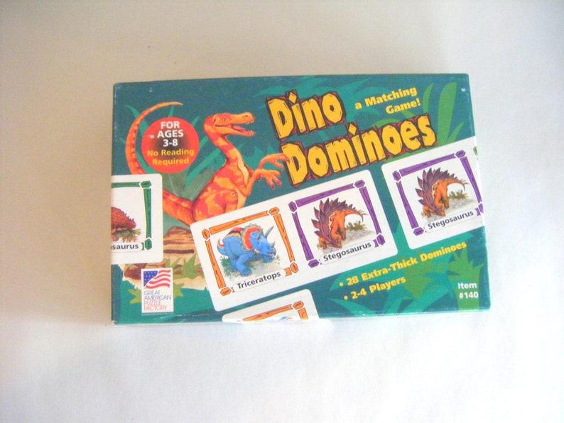 Vintage Dinosaur Dominoes Game  Toy Children Play Kids Parenting Education Teacher TableTop