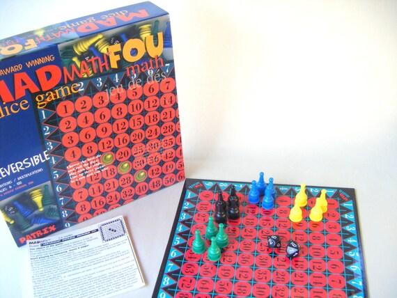 Vintage Mad Math Board Game Children Play Kids Parenting Etsy