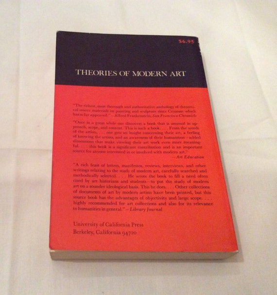 Theories Of Modern Art Vintage Book Fine Art Criticism Drawings Philosophy Symbolism Artist Impressionism Expressionism College