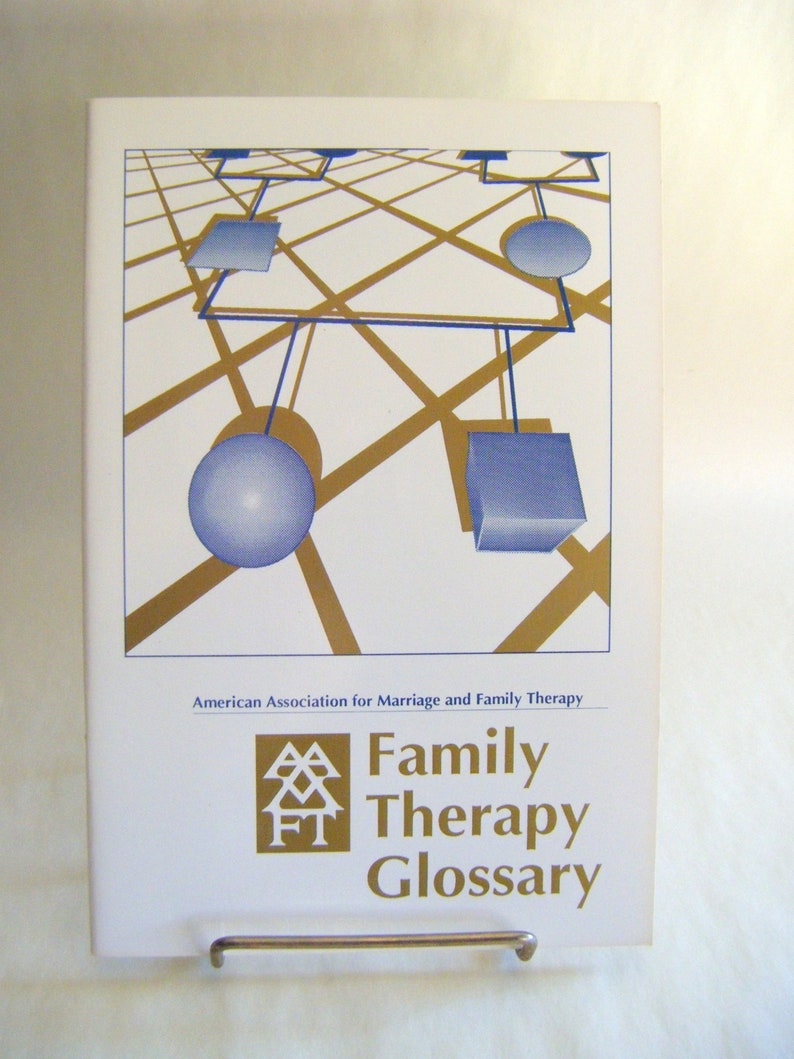Vintage Family Therapy Glossary Paperback Book Guide Dictionary Words Terms  Psychology Counseling Marriage