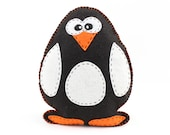 Penguin Sewing Pattern, Felt Penguin Hand Sewing Pattern, Plush Penguin Softie, Penguin Plushie Toy, Instant Download PDF SVG DXF