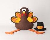Turkey Sewing Pattern, Felt Turkey Stuffed Animal Pattern, Thanksgiving Turkey Hand Sewing, Plush Turkey Softie Thanksgiving Decor, PDF SVG