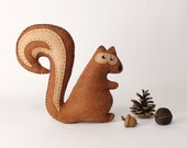 Squirrel Sewing Pattern, Stuffed Squirrel Hand Sewing Pattern, Felt Easy to Sew Plush Chipmunk, Instant Download PDF SVG DXF