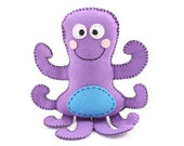 Octopus Stuffed Animal Pattern, Octopus Hand Sewing Pattern, Plush Octopus Sewing Pattern, Instant Download PDF SVG DFX