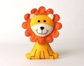 Lion Sewing Pattern, Felt Lion Hand Sewing Plushie, Sew a Lion by Hand from Felt, Instant Download, King of the Jungle, Plush Stuffed Lion