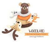 Stacking Toy for Toddlers, Forest Animal Sewing Pattern, Baby Gift, Woodland Hand Sewing Pattern, Bear, Deer, Fox, Mouse, PDF SVG DXF
