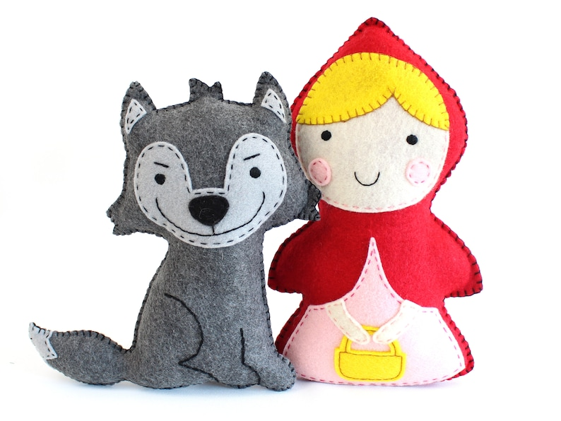 Little Red Riding Hood and the Big Bad Wolf Sewing Patterns image 0