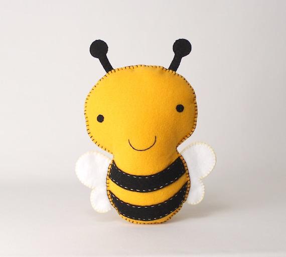 Bumblebee Sewing Pattern Stuffed Felt Bee Plushie Pattern Etsy