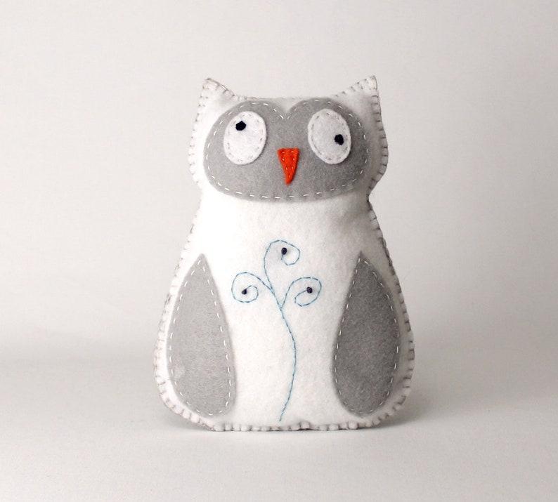 Owl Hand Sewing Pattern Felt Owl Stuffed Animal Pattern Sew image 0