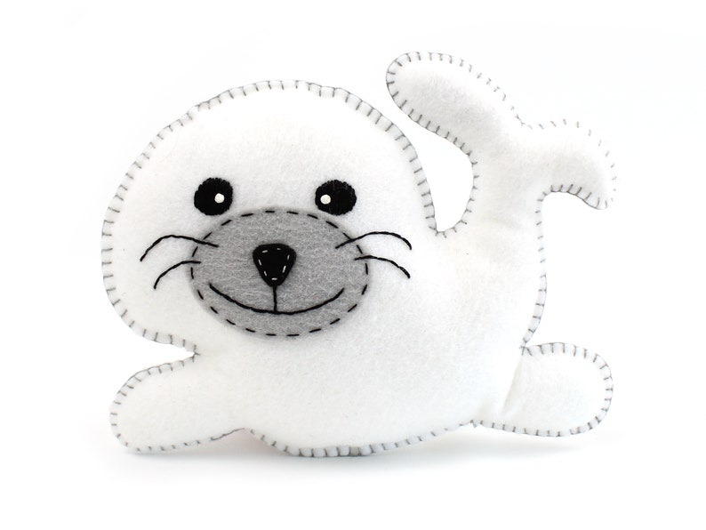 Seal Sewing Pattern Stuffed Plush Seal Hand Sewing Pattern image 0