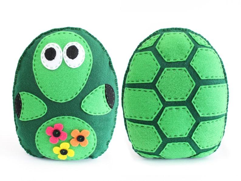 Turtle Sewing Pattern Tortoise Hand Sewing Pattern Felt image 0