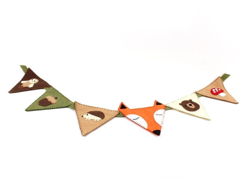 Woodland Nursery Bunting Banner Decor Sewing Pattern DIY image 0