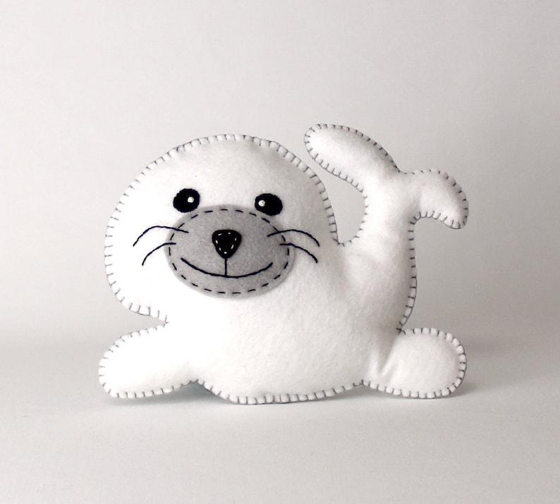 Seal Sewing Pattern Stuffed Plush Seal Hand Sewing Pattern image 0