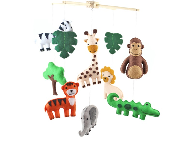 Jungle Mobile Sewing Pattern Safari Animal Nursery Mobile image 0