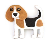 Beagle Sewing Pattern, Dog Hand Sewing Pattern, Sew a Felt Beagle, Stuffed Dog, Easy Dog Sewing Pattern, Gift for Beagle Lover, PDF SVG DXF