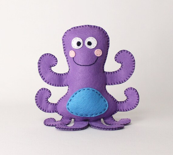 Octopus Stuffed Animal Pattern Octopus Hand Sewing Pattern   Etsy