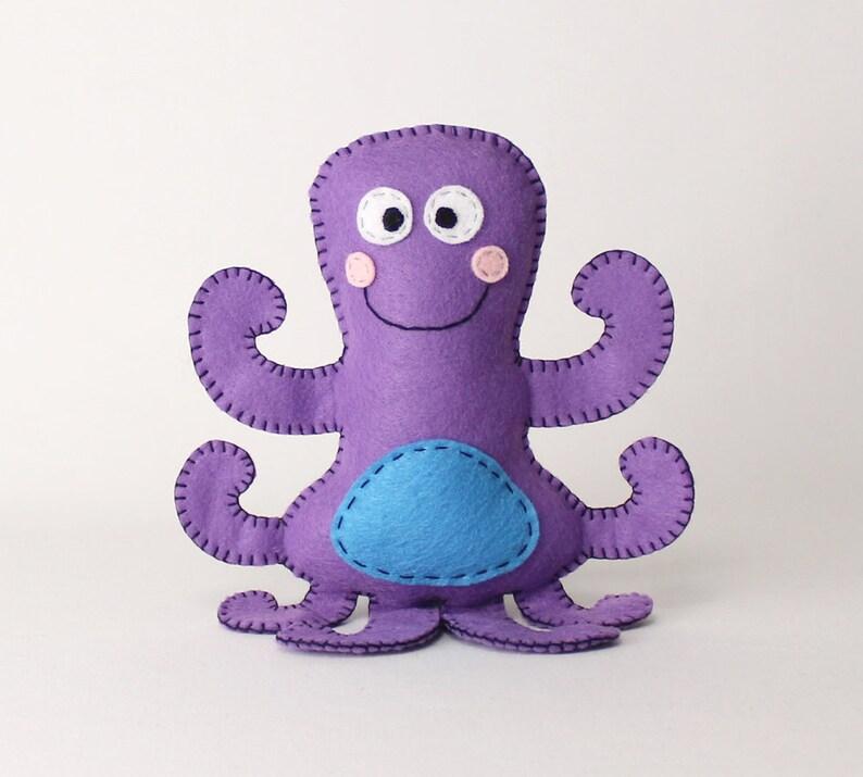 Octopus Stuffed Animal Pattern Octopus Hand Sewing Pattern image 0