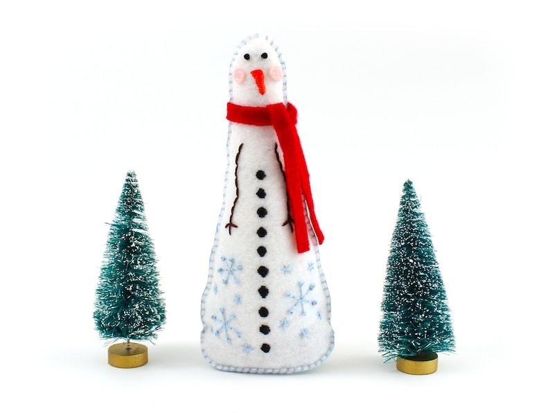 Snowman Hand Sewing Pattern Christmas Decoration Plush image 0
