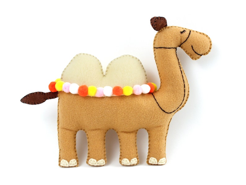 Camel Sewing Pattern Felt Camel Stuffed Animal Instructions image 0