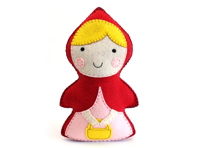 Little Red Riding Hood Sewing Pattern Stuffed Doll Hand image 0