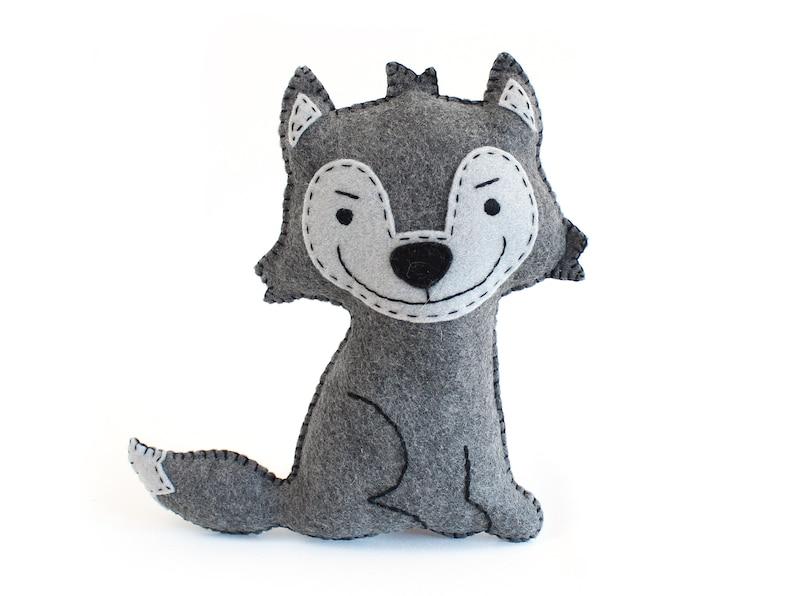 Wolf Sewing Pattern Big Bad Wolf Stuffed Animal Hand Sewing image 0