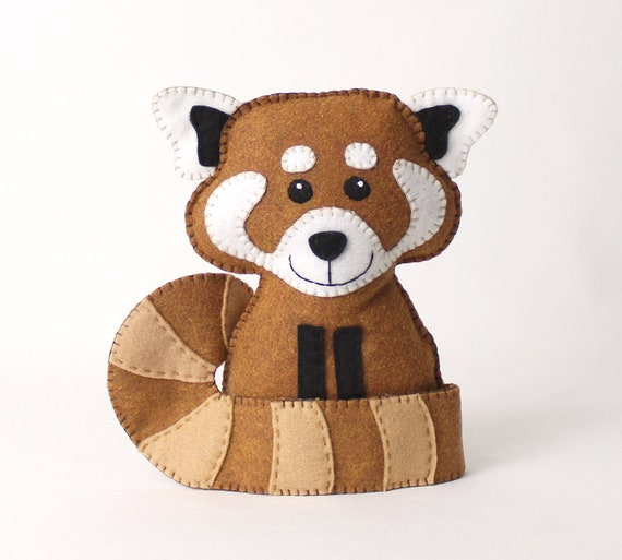 Red Panda Pattern Hand Sewing Pattern For A Red Panda Stuffed Etsy