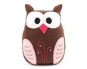 Stuffed Owl Sewing Pattern, Felt Owl Plush Softie, Woodland Owl Pattern, Owl Plushie, Owl Stuffie, Instant Download PDF SVG DXF