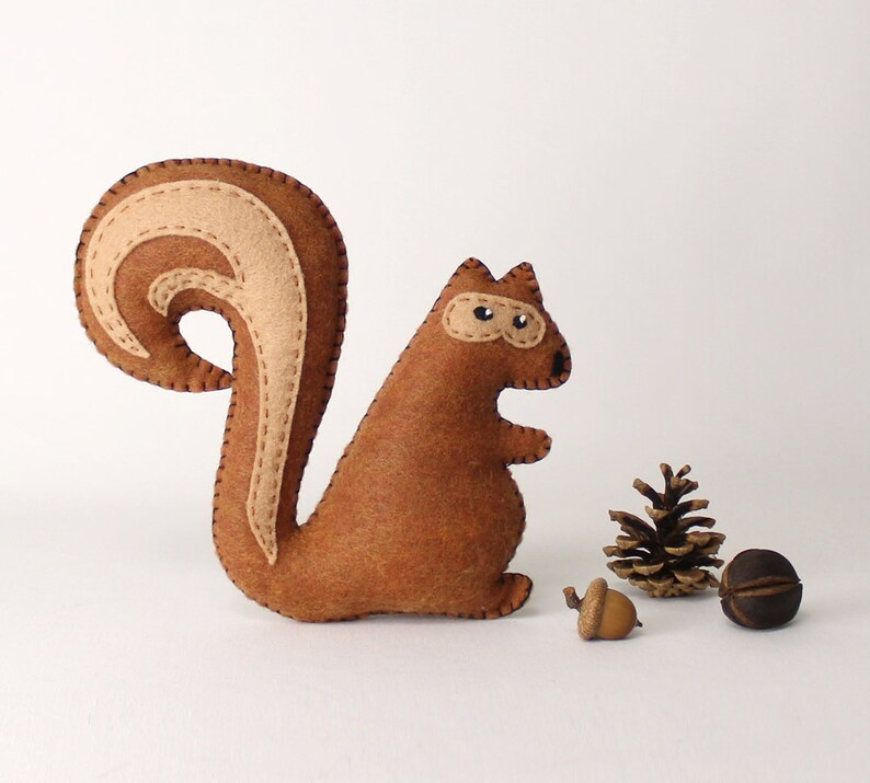 Squirrel Sewing Pattern Stuffed Squirrel Hand Sewing Pattern image 0