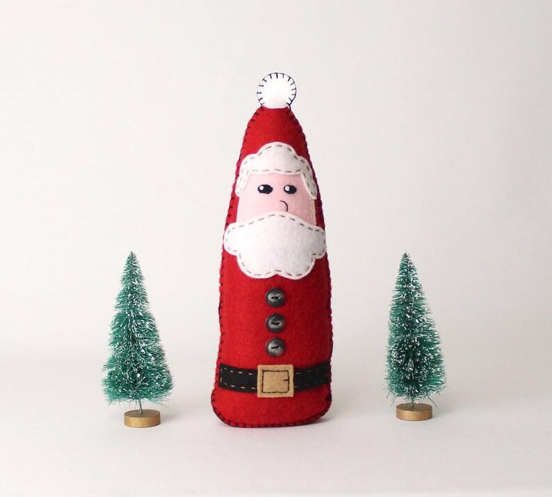 Santa Claus Sewing Pattern How to Sew a Felt Santa Felt image 0