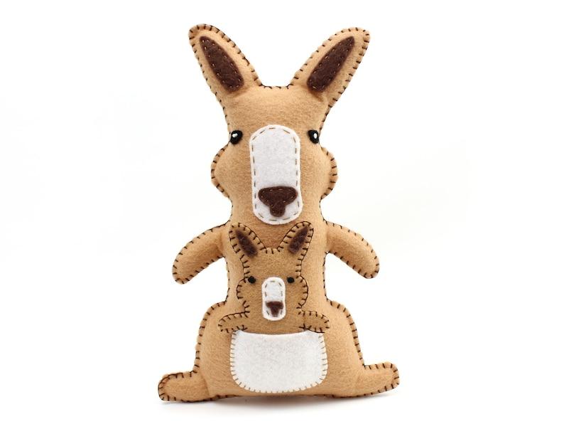 Kangaroo Stuffed Animal Sewing Pattern Kangaroo Hand Sewing image 0
