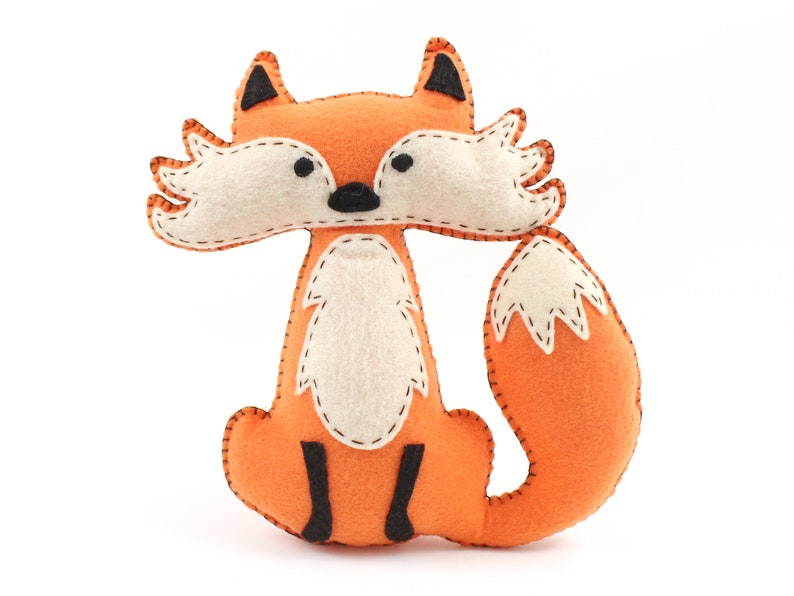 Fox Sewing Pattern Felt Fox Hand Sewing Instructions Easy image 0