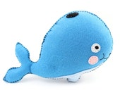 Whale Sewing Pattern, Stuffed Whale Hand Sewing Pattern, Felt Whale Plushie, Whale Softie, Blue Whale, Instant Download PDF SVG DXF