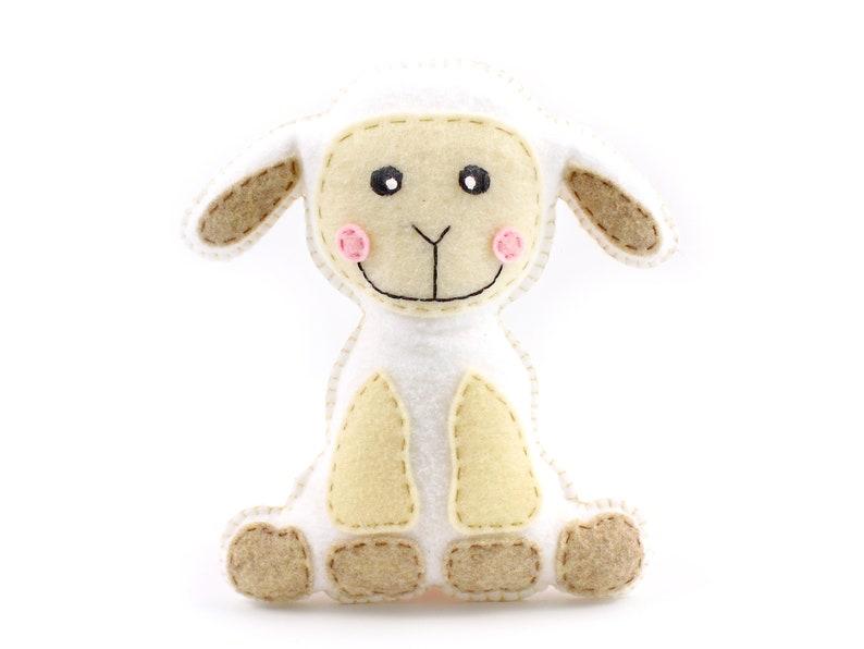 Lamb Stuffed Animal Sewing Pattern Plush Lamb Sewing Pattern image 0