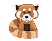 Red Panda Pattern, Hand Sewing Red Panda Stuffed Animal, Instant Download, Felt Plushie Softie Easy Pattern, Instant Download PDF SVG DXF