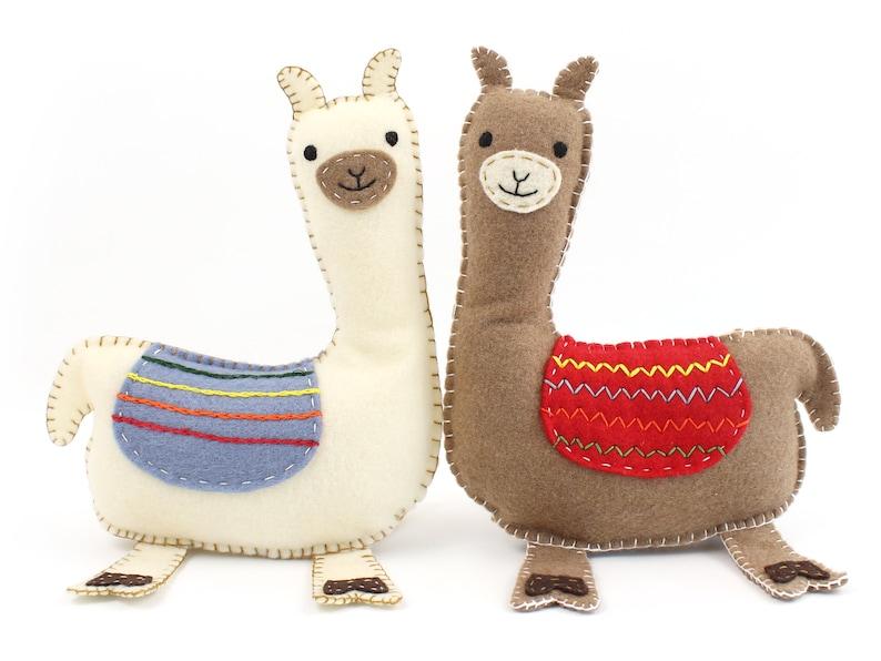 Llama Sewing Pattern How to Sew Felt Llama Pattern Easy image 0